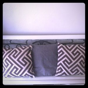 2 West Elm throw pillows covers with pillows